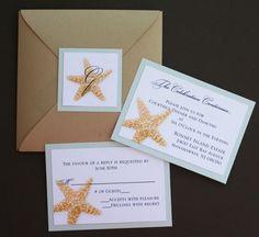 Champagne Metallic Star-fold Starfish Wedding by atouchofsunshine4