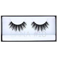 HUDA BEAUTY Classic Lash Lana ($23) ❤ liked on Polyvore featuring beauty products, makeup, eye makeup, false eyelashes and beauty