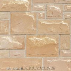 Beige Sandstone Mushroomed Wall Cladding