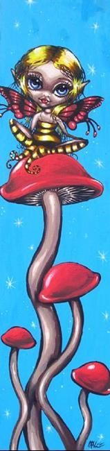Art: Fairy Mushrooms by Artist Nico Niemi