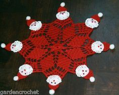 Best 12 how to crochet crochet christmas doily – SkillOfKing. Crochet Christmas Ornaments, Christmas Crochet Patterns, Holiday Crochet, Crochet Doily Patterns, Christmas Knitting, Crochet Home, Thread Crochet, Crochet Designs, Crochet Crafts