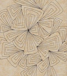 Great quilting design ~ could be a tangle! How would you turn this into a tangle? What would your steps look like?