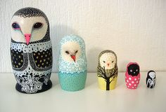 owl nesting dolls by The Sugar Monster, via Flickr