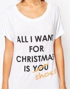Image 3 ofAdolescent Clothing All I Want Christmas Gift Nightshirt