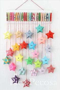 35 DIY Advent Calendar Ideas Anyone Can Make. These easy ideas are so clever, definitely pinning! DIY your very own homemade Christmas advent calendar and add some more festive decorations to your home! Mini Christmas Tree, Christmas Time, Christmas Crafts, Christmas Glitter, Xmas, Homemade Christmas, Globe Ornament, Star Ornament, Outdoor Christmas Tree Decorations