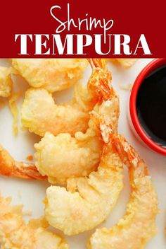 Shrimp Tempura is a Japanese dish made with fresh shrimp dipped in tempura batter and deep-fried until perfectly crispy. Serve it with soy sauce or tempura dipping sauce. Fried Shrimp Batter, Deep Fried Shrimp, Fried Shrimp Recipes, Seafood Recipes, Shrimp Tempura Batter Recipe, Deep Fried Foods, Shrimp Tempura Roll, Deep Fried Recipes, Cajun Shrimp