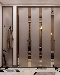 Wardrobe Laminate Design, Wardrobe Door Designs, Wardrobe Design Bedroom, Wardrobe Doors, Closet Designs, Luxury Wardrobe, Showroom Interior Design, Walk In Closet Design, Modern Closet