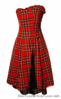 Bella Short Dress, Made to Order, Any Tartan | Scottish kilts online shop - Buy tartan kilt - Edinburgh.