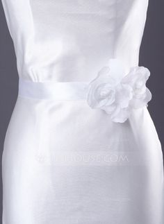 Women Satin Organza Sash (015012852) - JJsHouse