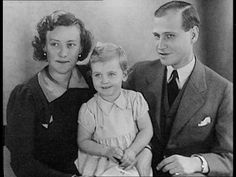 Princess Johanna of Hesse and by Rhine with her uncle and aunt, Prince Ludwig and Princess Margaret, nee the Hon. Margaret Campbell-Geddes, who adopted her after the death of parents.  Sadly, Johanna didn't survive her parents and brothers for long.  She died on 14 June 1939, at 2 1/2, of meningitis.  As her uncle had no children, Johanna's death brought the House of Hesse and by Rhine to an end.