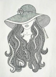 zentangle by Tatyanka-Gunchak on DeviantArt Doodle Art Drawing, Dark Art Drawings, Zentangle Drawings, Mandala Drawing, Pencil Art Drawings, Art Drawings Sketches, Zentangle Art Ideas, Mandala Sketch, Mandala Doodle