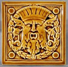 Classical Green Man Tile