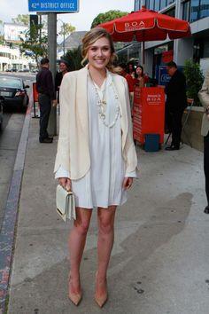 Elizabeth Olsen at the Independent Spirit Awards Nominees Brunch- all white...amazing