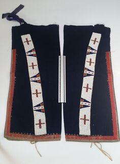 Classic Antique Sioux (Lakota)/ Cheyenne Man's Leggings, 19th Century