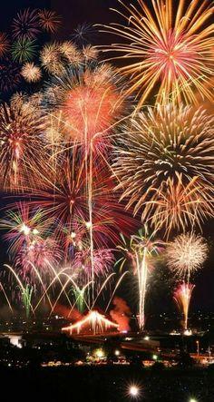 Fireworks Festival in Fukuroi, Shizuoka, Japan …