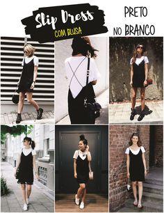 Vestido com camiseta por baixo | Como usar SLIP DRESS com blusa | Tendência 2016 | '90s-Inspired