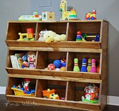 wood bulk bins (knock off wood) diy furnituretoy storage wooden toy storage cabinet, wood bulk bins (knock off wood) ana white, diy wood and Diy Wood Projects, Furniture Projects, Furniture Plans, Kids Furniture, Furniture Storage, Office Furniture, Furniture Design, Modern Furniture, Toy Storage Bins