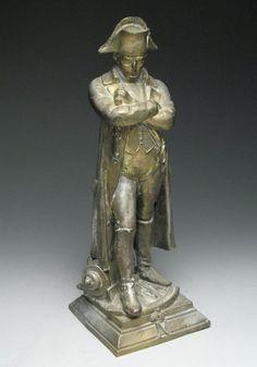 Antique Brooding Military Napoleon Spelter Metal Sculpture Statue  #Empire #napoleon