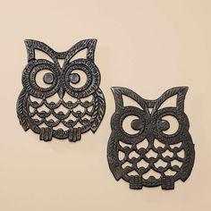 Vintage Owl Trivets... Fossil Finds