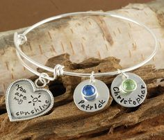 You Are My Sunshine Bangle Bracelet   Love this design but would prefer something as a necklace