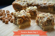 Cookie Week {Day 1}: Pecan Coconut Butterscotch Squares