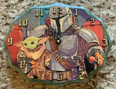 Mandalorian & The Child OAK Hand Crafted Wood Clock Wood Clocks, Mandalorian, Baby Kids, Children, Crafts, Handmade, Ebay, Young Children, Boys