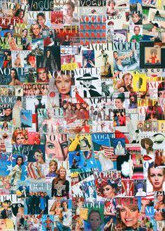 Vogue Collage by Elizabeth Sutton // Indiewalls Capas Vintage Da Vogue, Vogue Vintage, Vintage Vogue Covers, Moda Wallpaper, Vogue Wallpaper, Fashion Wallpaper, Collage Background, Photo Wall Collage, Collage Art