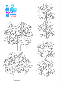 Rose pattern kirigami 1