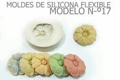 molde de silicona numer 17 flor redonda