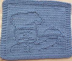 DigKnitty Designs: Chef Too Knit Dishcloth Pattern