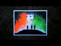 """Hi guys. In this video i show you """" The Independence day special step by step oil pastel drawing ! For kids and beginners"""". Watch this full video and tr. Independence Day Drawing, Independence Day Wallpaper, Independence Day Special, Indian Independence Day, Oil Pastel Paintings, Oil Pastel Art, Oil Pastel Drawings, Pencil Drawings, Watercolor Paintings"""