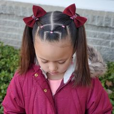 Easy Toddler Hairstyles, Easy Little Girl Hairstyles, Formal Hairstyles For Long Hair, Cute Little Girl Hairstyles, Girls Natural Hairstyles, Cute Girls Hairstyles, Hairstyle For Baby Girl, Girl Hair Dos, Baby Hair Dos