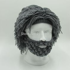 Wig Beard Hats Hobo Mad Scientist Rasta Caveman Handmade Knit Warm Winter Caps…
