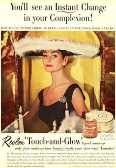 1950s ad for Revlon cosmetics: