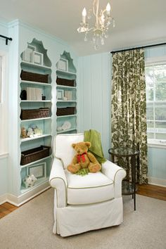 Done right, an old home doesn't need any updates, just great styling as in this kids room/nursery.