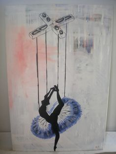Title The last dance  60 - 90 - 2 cm  Acrylic paint on canvas  Artist Nicholas Dukliaskos