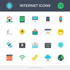 Free Template: A Set of Internet Icons | HeyDesign Graphic Design & Typography Inspiration