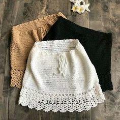 Elegant Handmade Cotton Crochet High Waist Bow Tie Beach Bikini Bottoms Mini Skirts Source by gels_boutique < Br > Crochet Skirts, Crochet Clothes, Diy Clothes, Crochet Outfits, Crochet Top Outfit, Barbie Clothes, Cotton Crochet, Knit Crochet, Crochet Summer