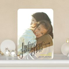 This holiday photo card is 'Fabulous and Merry' by Petite Alma for Tiny Prints