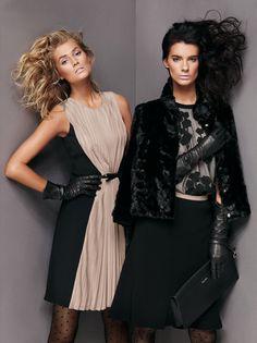 Toni Garrn & Querelle Jansen Exude Pure Elegance for Max Mara Studio's Fall 2012 Campaign