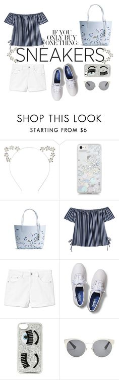 """""""You Need White Sneakers!"""" by youaresofashion ❤ liked on Polyvore featuring Skinnydip, Gap, Keds, Chiara Ferragni, Christian Dior and whitesneakers"""