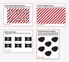 Click the link above to download our free printables for a Pirate birthday party or playdate. We also have a free printable banner and invitations here.