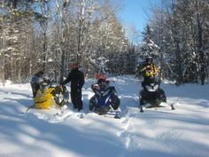 Snowmobilers welcome. It's a great winter to snowmobile in the Porcupine Mountains!