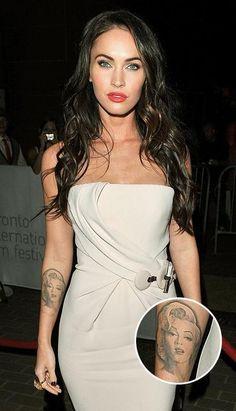 Megan Fox aime tellement Marilyn Monroe qu'en 2009, elle s'est fait tatouer le visage de la star sur l'avant-bras. Était-ce parce qu'elle trouvait le dessin raté qu'elle a décidé de se le faire enlever? «Ça a fait vraiment mal», a-t-elle confié à Jay Leno plus tôt cette année. «Elle n'était plus belle du tout».