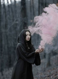 "hexevondep: ""Me… Yes, I am fucking witch. Smoke Photography, Fantasy Photography, Photography Poses, Fantasy Witch, Witch Art, Dark Witch, White Witch, Halloween Fotografie, Images Esthétiques"