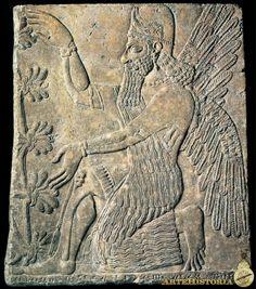 Bajorrelieve sumerio,siglo IX AC  Museo del Louvre