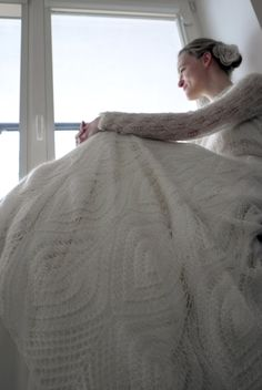 Knitted wedding dress. Actually quite pretty, but not a project for me!