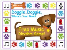 Looking for a FUN Music Game that helps your class quickly learn to read rhythms better. Your and music students will love this Fun Game as they practice their rhythms. Be careful, you will end up in the doghouse if you draw the doghouse card. Preschool Music, Music Activities, Music For Kids, Fun Music, Music Stuff, Piano Games, Piano Music, Elementary Music Lessons, Elementary Schools