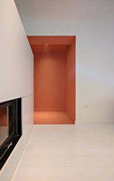 Image 7 of 10 from gallery of Apartment in Korydallos / Plaini and Karahalios Architects. Photograph by Nikos Papageorgiou Color Stories, Interior Architecture, Floor Plans, Shelves, Flooring, Gallery, Inspiration, Photograph, Architects