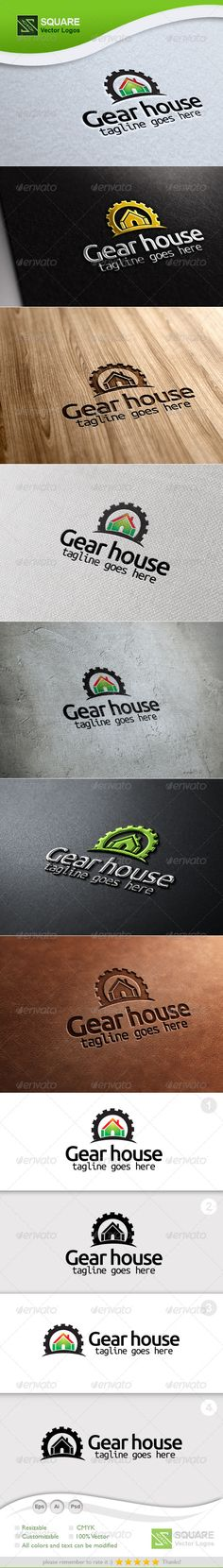 Gear, House Vector Logo Template #GraphicRiver File Description This is custom logo template. Illustrator (AI), Photoshop (PSD), Vector (EPS) logo files included in this download. You can customize to your own branding. All colors and text can be modified. It is suitable for industry, work, mechanic, home, house, construction, housing, gear related logos. FEATURES The Logo Is 100% Vector 100% Customizable Fully Layered Logo Template CMYK Gradient version High Quality AI, EPS, PSD files All…